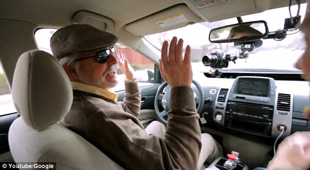 A user, who is legally blind, sat behind the wheel during a recent test drive and showed off to the passengers that no hands were needed To date, Google's cars have gone about 700,000 miles (1.1 million km) in self-driving mode