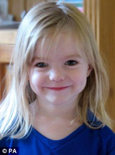 Missing: Madeleine was abducted from Praia da Luz in Portugal, a few hours drive away from the Spanish campsite, in May 2007