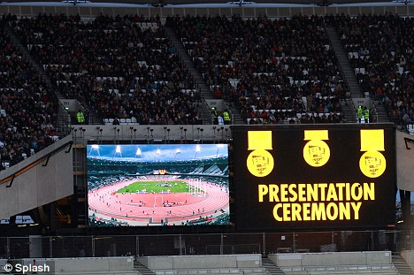 Not long now: The British universities and colleges sport championships were held at the Olympic Stadium as London prepares to welcome the world