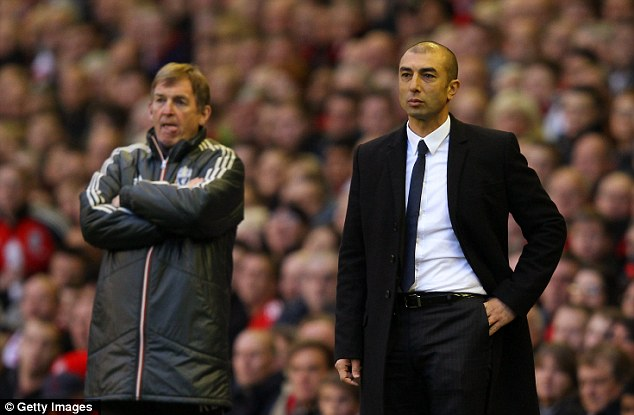 Strange seasons: The fortunes of Roberto Di Matteo (right) and Kenny Dalglish (left) fluctuated yet again