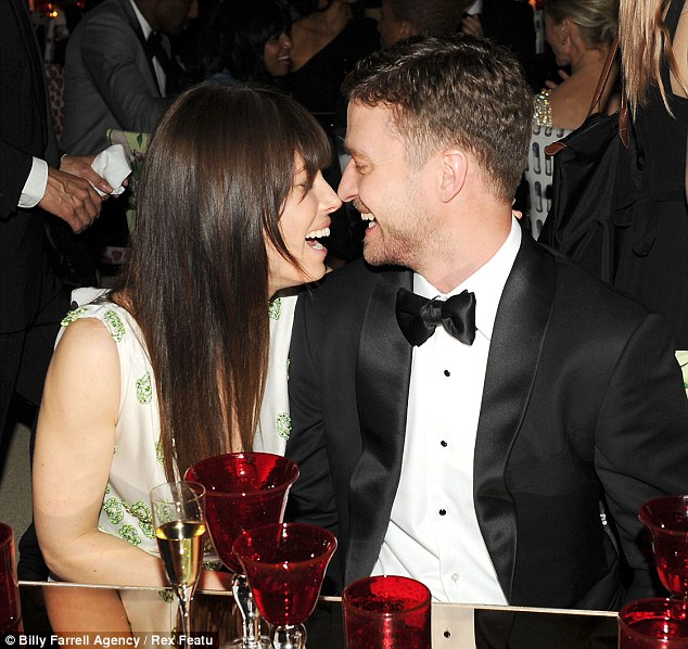 Sharing an in joke! The couple are said to have got engaged last December
