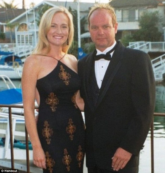 Murdered: Affluent couple Brock and Davina Husted and their unborn child were stabbed to death inside their Faria Beach home on May 20, 2009