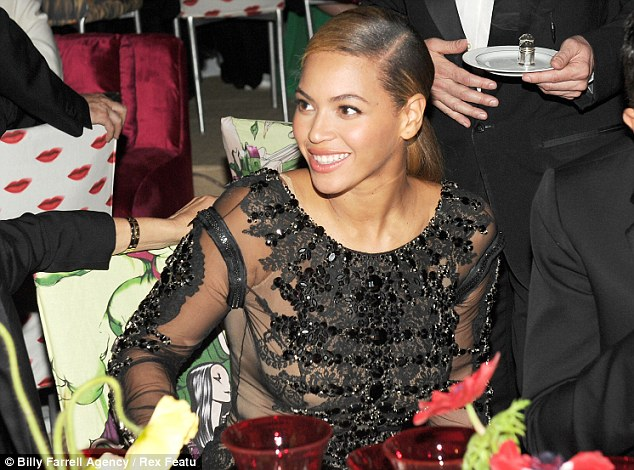 Going for glam: Beyoncé attended the Costume Institute Gala Benefit in New York the night before