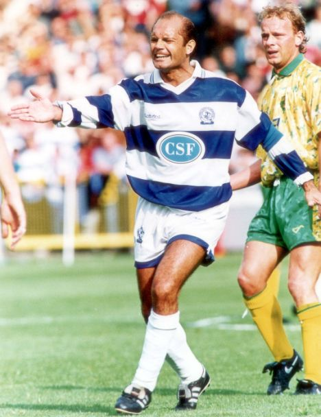Ray Wilkins, in his playing days, turning out for QPR. He also played for Chelsea and Manchester United as well as England