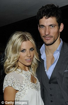 Singer Mollie King with Dolce & Gabbana male model David Gandy. The couple split in February, following which the rumours Prince Harry was next in line for Miss King surfaced