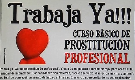 Aspirational? The Spanish advertisement promoting courses in prostitution