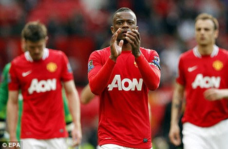 Au revoir? Patrice Evra has had a poor season by his high standards