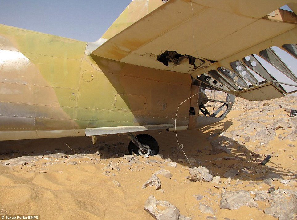 Chance discovery: The single-seater aircraft was found by a Polish oil company worker exploring a remote region of the western desert in Egypt