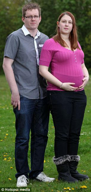 Debbie Mills with her partner Dan Hamlett are worried giving birth could make Debbie's chronic pain condition worse