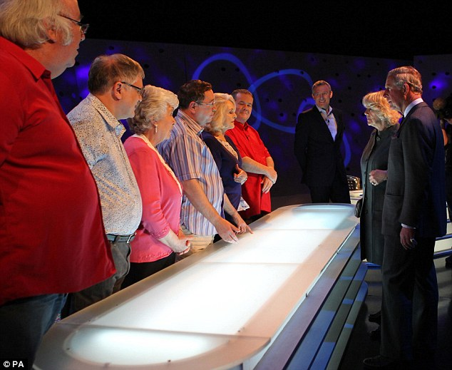 The Prince of Wales and the Duchess of Cornwall later visited the BBC studio set of quiz show Eggheads, where they met contestants and panellists