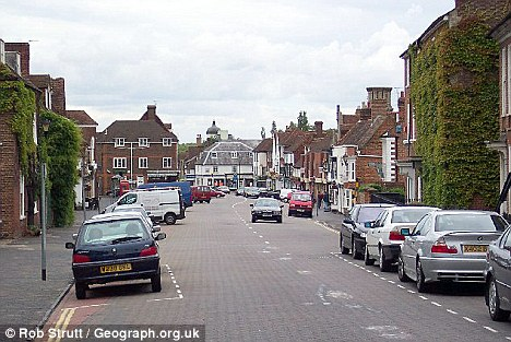 Banned: The 18-year-old pair are not allowed to enter West Malling¿s historic centre, pictured, after being handed a two-year Asbo by magistrates
