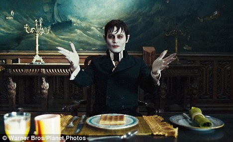 Stake for dinner? Johnny Depp is complacent and a lifeless hole in his role as a vampire in Dark Shadows