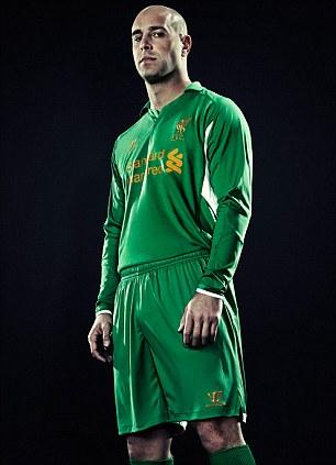 Model behaviour: Steven Gerrard and Pepe Reina looked dapper in their new strip