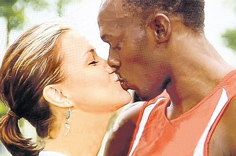 All over: Bolt and girlfriend Lubica Slovak have split