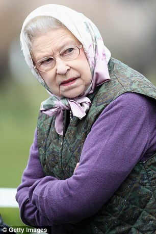 What has the Queen seen? A curious look from Her Majesty