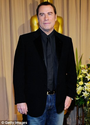 John Travolta backstage at the 82nd Annual Academy Awards in 2010