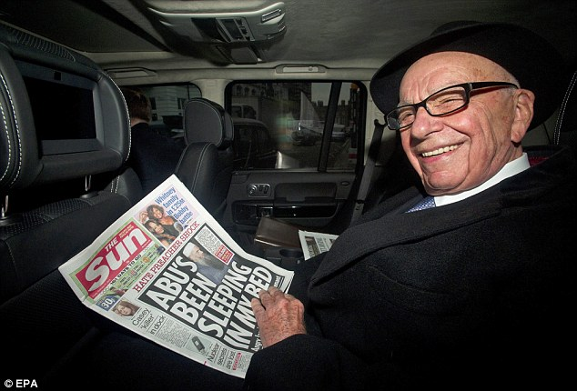 Driver: Rupert Murdoch has been driven by former News International chauffeur Paul Maley who worked for the newspaper company until 2009
