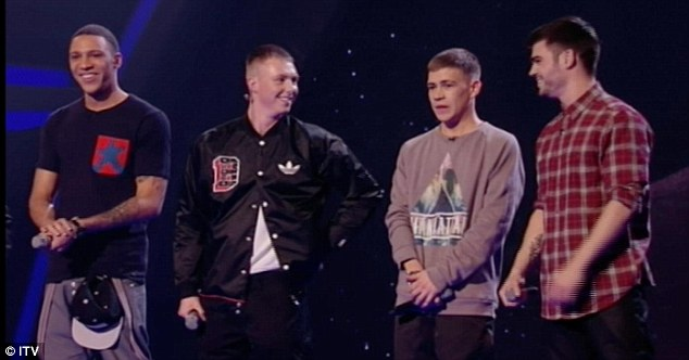 Wild card: boy band The Mend won a place in the final and opened the show with a rendition of Usher and David Guetta's song Without You