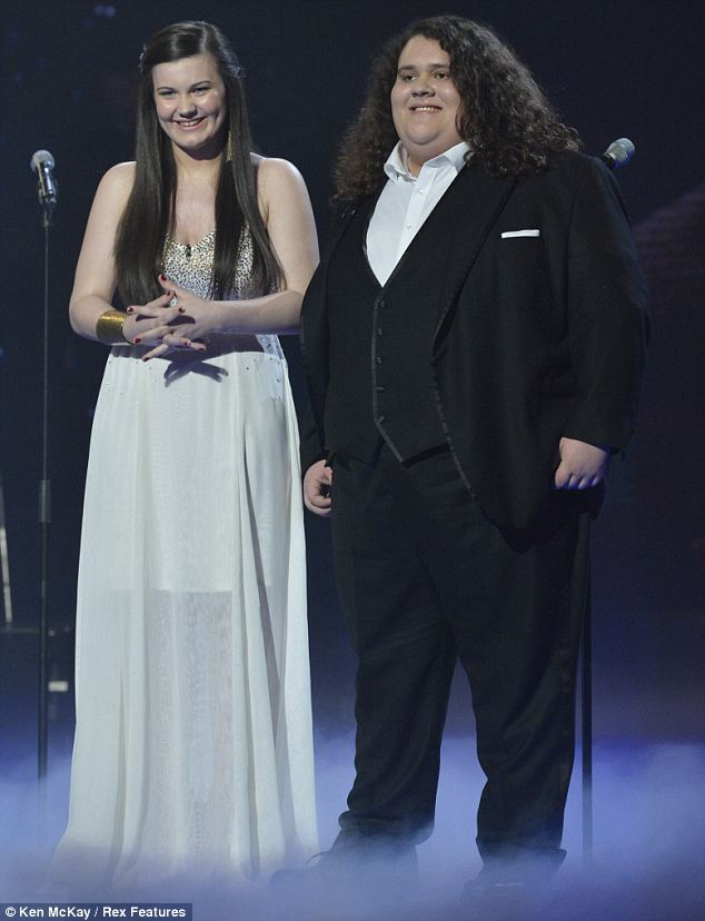 Gracious runners-up: Teen opera duo Jonathan Antoine and Charlotte Jaconelli narrowly missed out on the title