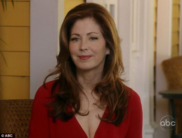 Familiar face: Katherine Mayfair returned to the lane with a job offer for Lynette in New York