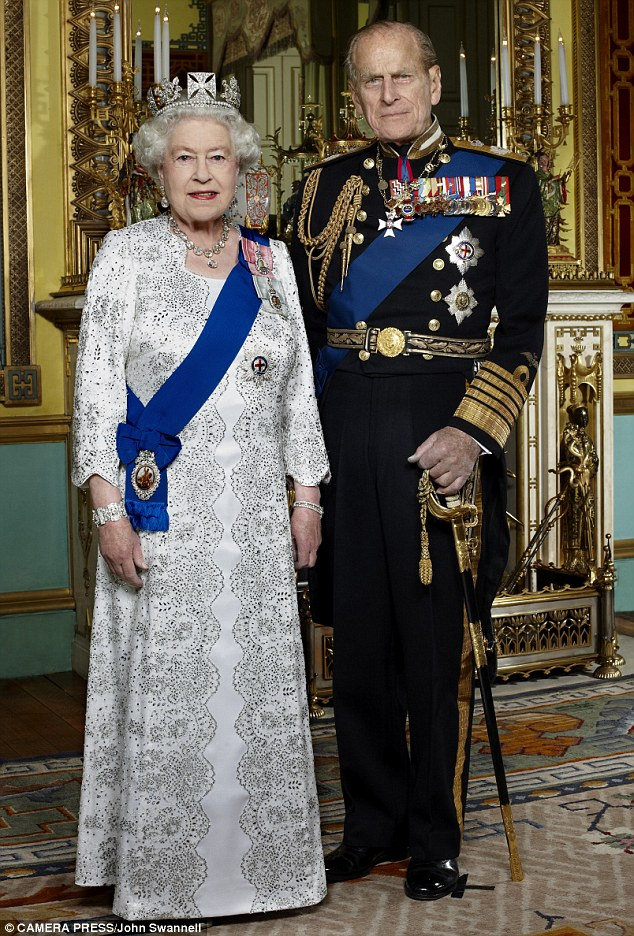 Inspiration: The official Diamond Jubilee portrait by John Swannell that Tussauds used to recreate the Queen's likeness