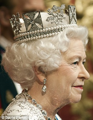 Attention to detail: Every hair on the Queen's head was applied individually, by hand, to create the natural finish