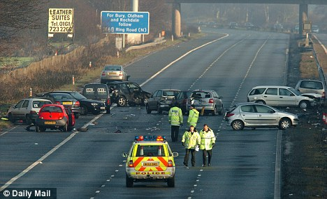 'Weaknesses': The Road Safety Foundation has claimed that there would be an increased risk of shunt crashes and said there was not enough protection to prevent cars running off the road (file picture)