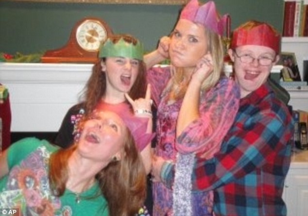 Cherished: Miss Copeland, a 24-year-old graduate from Georgia, has fun with friends