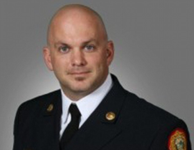 Shame: Captain Brian Beckmann, who has been with Miami Dade Fire Rescue since 1997, was demoted two rungs to the lowest rank of firefighter during a Monday morning administrative hearing