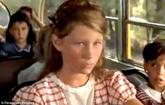 Child star: Elizabeth played one of the unfriendly children on Forrest Gump's school bus in the 1994 film