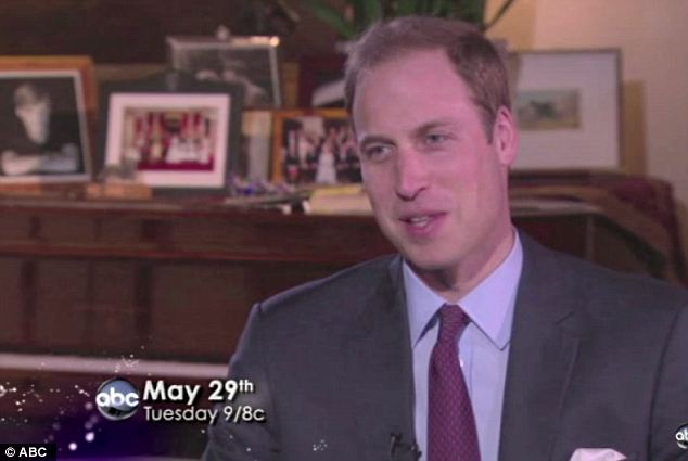 Past indiscretions: Prince William made reference to an earlier incident, saying 'As I learned from growing up, you don't mess with your grandmother'
