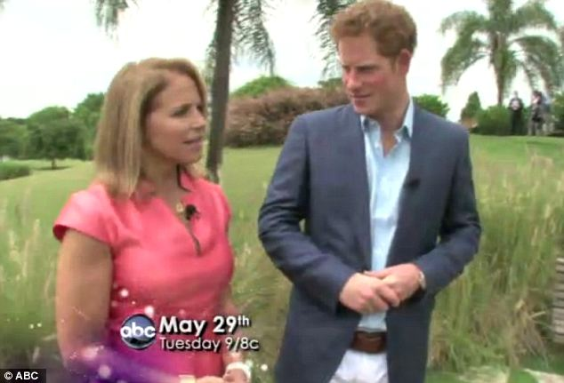 Opening up: Prince Harry spoke with Katie Couric as a part of the lead up to the Queen's Diamond Jubilee celebrations