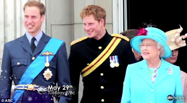 Happy family: The interview with the princes shows their closeness with their grandmother
