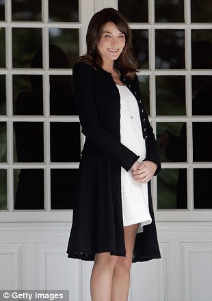 Maternity chic: The former model kept up her stylish looks when she had a baby bump