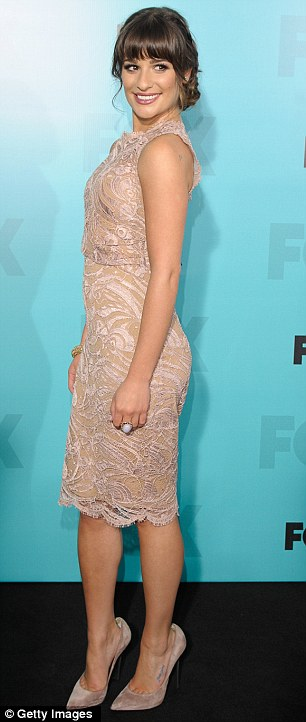 Gleeful! Lea announced yesterday that she had signed onto a fourth season of Glee at the Fox Upfronts event in New York