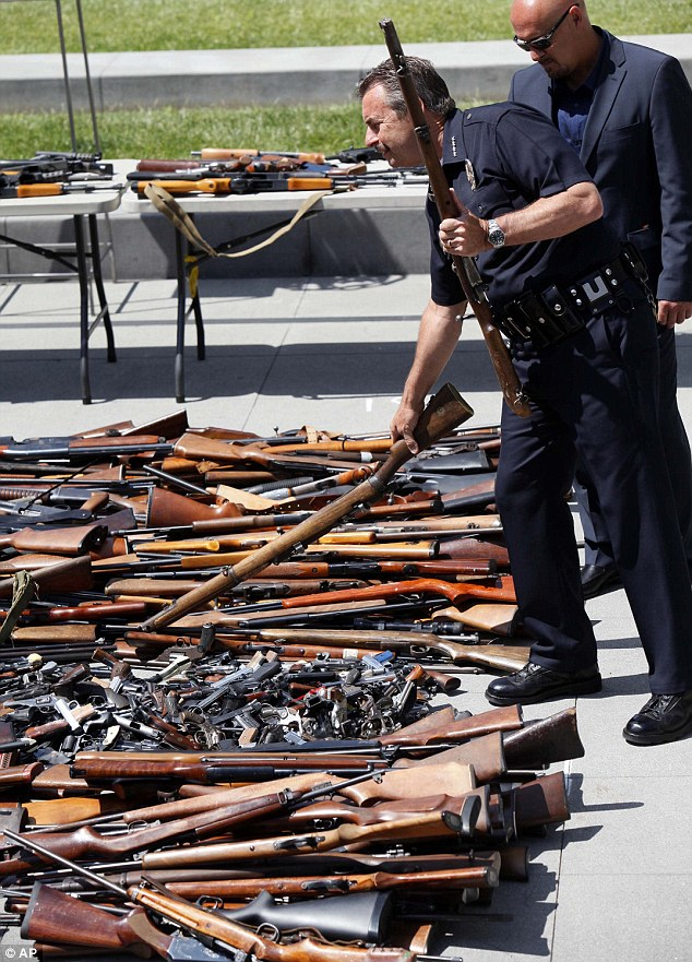 The city's fourth annual buyback program netted 1,673 firearms, including 791 handguns, 527 rifles, 302 shotguns and 53 assault weapons