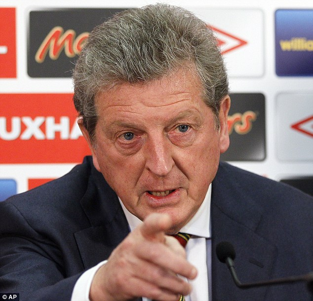 Making his point: Hodgson explained the reasons behind his squad selection at Wembley on Wednesday