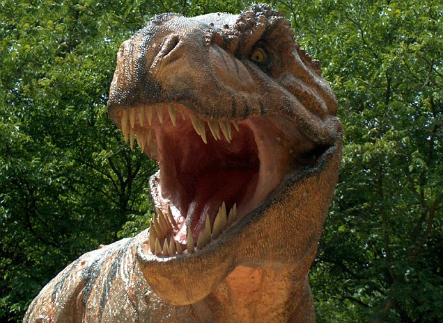 Prehistoric killer: A model of the the Tyrannosaurus Rex, the only skeleton of which ever sold publicly went for over £5million