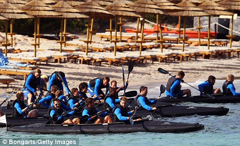 In the same boat: German players take to the water in Sardinia