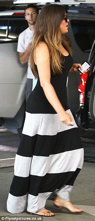 Summer wardrobe: Khloe seemed to be making the most of what the warm weather meant for her style choices
