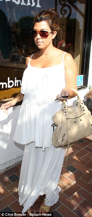 Kourtney Kardashian steps out and shops at Bel Bambini on May 16, 2012 in Beverly Hills, California