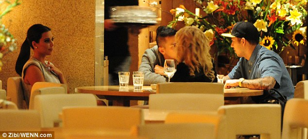 Getting to know you: Kim chats to Rita after dinner at Zuma after Kanye has left