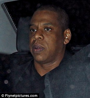 Also in town: Jay-Z joined the gang for dinner ahead of his gig with Kanye on Friday night