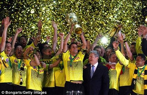 Just champion: Borussia Dortmund want Bendtner to join them