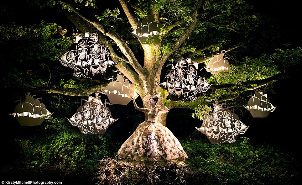 The Faraway Tree: ethereal ships, magically lit, appear to sprout from this tree as commanded by the queen