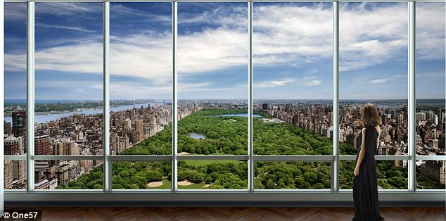 The view: When completed, the towering One57 building will provide unparalleled views of Central Park