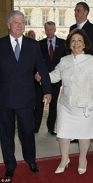 Smiling: Crown Prince Alexander II of Yugoslavia and his wife, the Crown Princess Katarina
