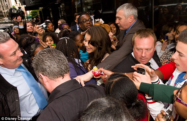 They're popular girls! Bella and Zendaya were mobbed by fans as they left Oxford Street's Disney Store last night following the launch of the new album Shake It Up: Live 2 Dance