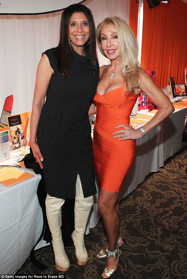 Party people: TV personality Christine Divine and actress Linda Thompson also attended the event