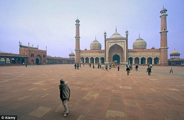 The 17th century Jama Masjid mosque in Old Delhi
